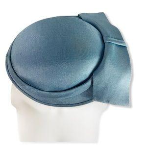 glover lane light blue 1950's vintage hat